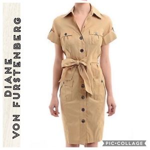 Diane Von Furstenberg • Clive Safari Tan Dress • 6